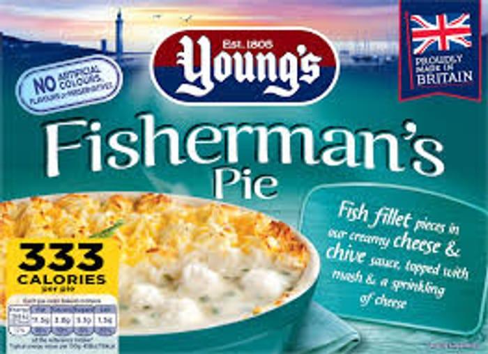 Youngs Fishermans Pies 3 Varieties