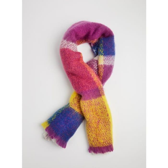 Multicoloured Oversized Blanket Scarf - One Size