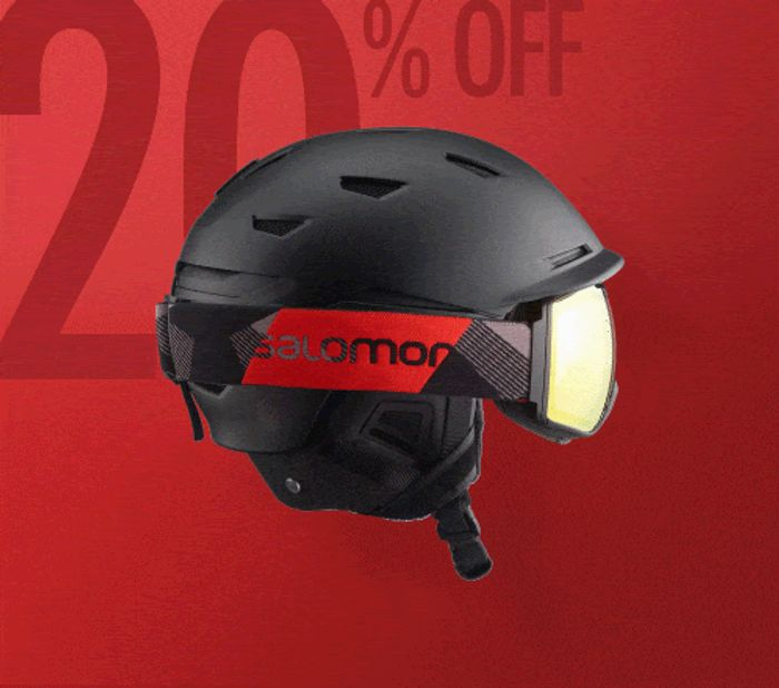 Salomon - save 20% When You Buy a Helmet and Goggles