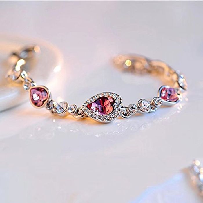 Charming Austrian Crystal Titanic Inspired Heart of Ocean Bracelet FREE Delivery