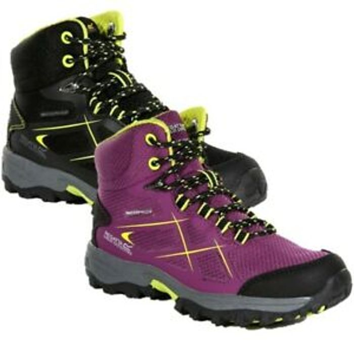 Regatta Kids Junior Kota Boys Girls Walking Hiking Boot Black Purple