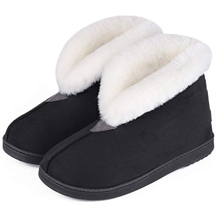 72% off Men's Women's Comfy Faux Leather Boot Slipper