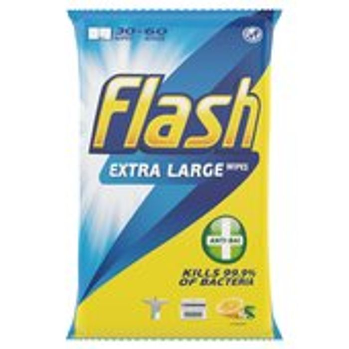 Special Offer - Flash Anti-Bacterial Cleaning Wipes 60X 60 per Pack