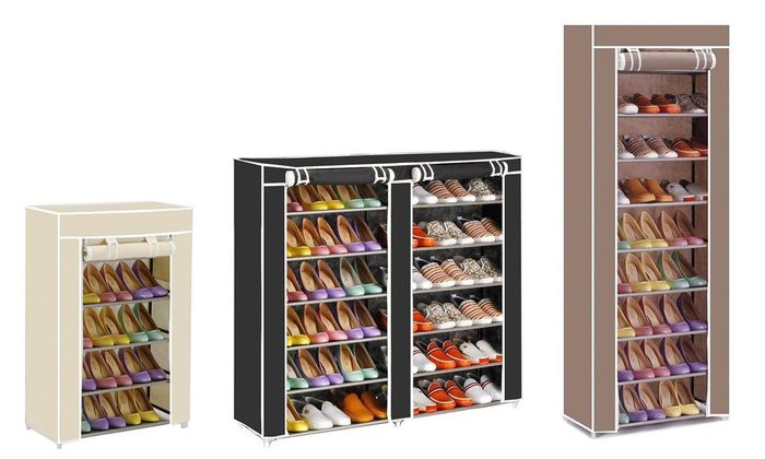Canvas Shoe Storage Rack in Choice of Colours & Sizes from £9.76 up to 60% Off