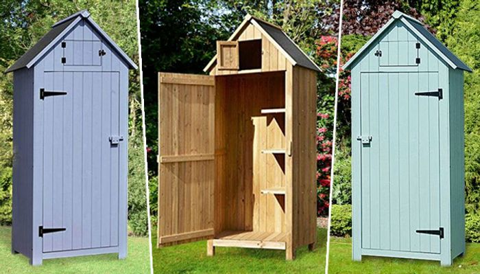 Wooden 'Beach Hut' Garden Shed - 5 Colours