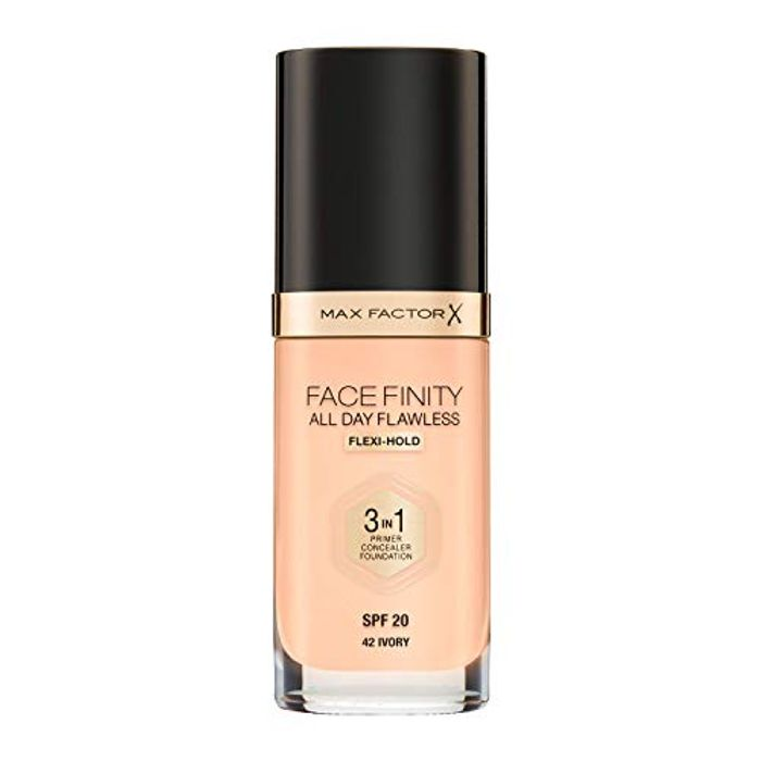 Max Factor Facefinity 3-in-1 All Day Flawless Foundation, SPF 20, Ivory, 200 G