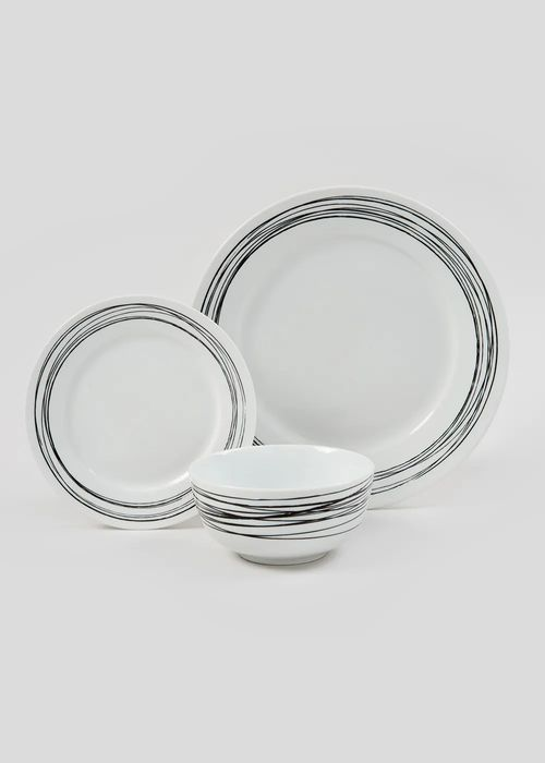 Going Fast! 12 Piece Swirl Dinner Set, Only 12.00!