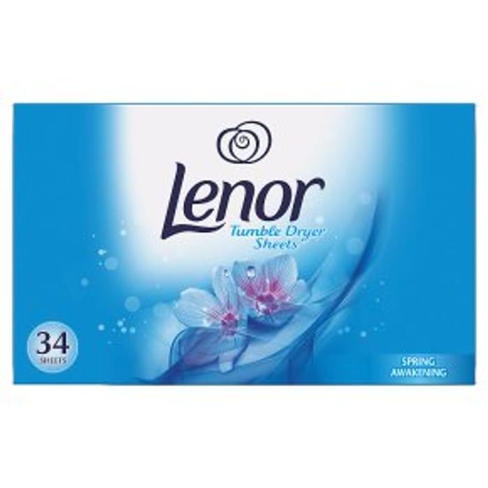 Lenor Tumble Dryer Sheets Spring Awakening34s 2 Packs
