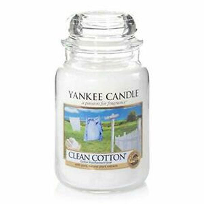 Yankee Candles Large Jar Candle Clean Cotton up to 150 Hours