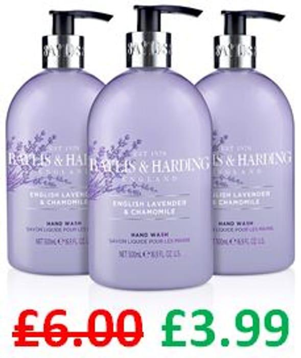 Baylis & Harding English Lavender & Chamomile Hand Wash, Pack of 3