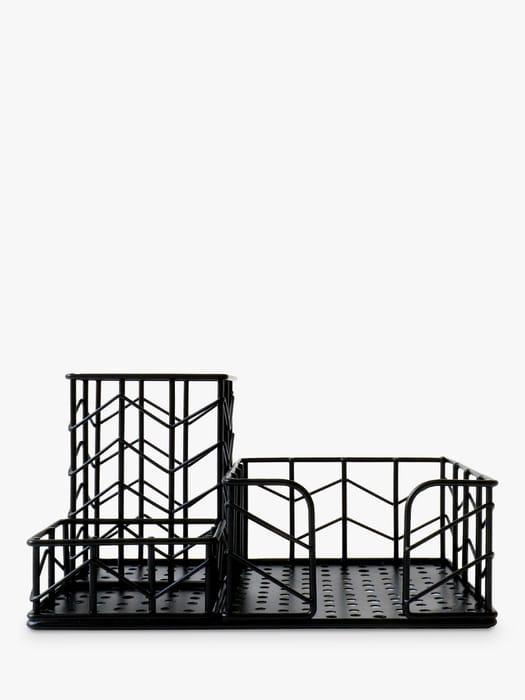 House by John Lewis Desk Tidy, Matte Black