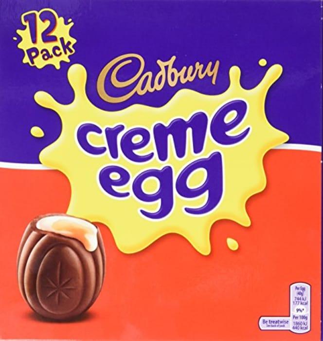 Cadbury Chocolate Creme Eggs (475 Grams, 12 Pack)