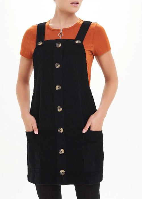 Save £11.00 on Black Cord Pinafore Dress