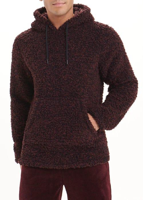 Burgundy Fleece Top - Better Than Half Price