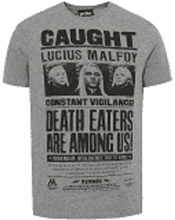 Harry Potter Grey Lucius Malfoy T-Shirt - XXXL / 3XL LEFT ONLY