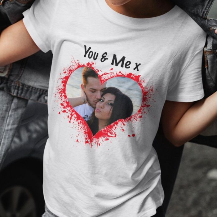 Free Personalised Valentines T Shirt - Free Collect in store