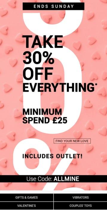 30% off £25 Spend or More at Bondara