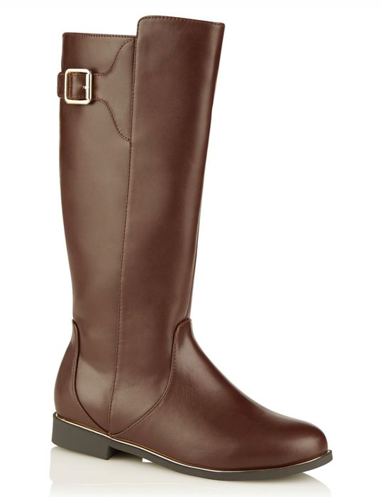 Girls Brown Knee High Boots down to £5