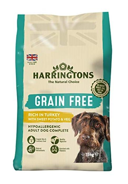 Harringtons Grain Free Hypoallergenic Turkey and Sweet Potato 15 Kg