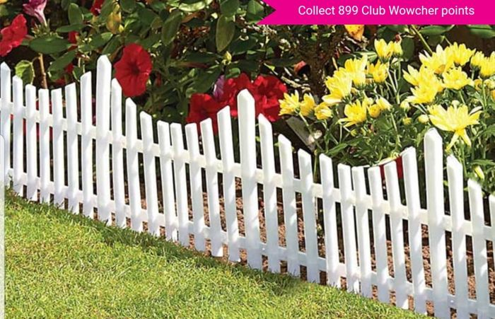 4x Picket Fencing Set. Made of White Plastic PVC