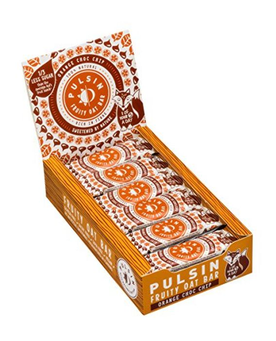 Best Ever Price! Pulsin Orange Choc Chip Fruity Oat Bar, 25 G, Pack of 24