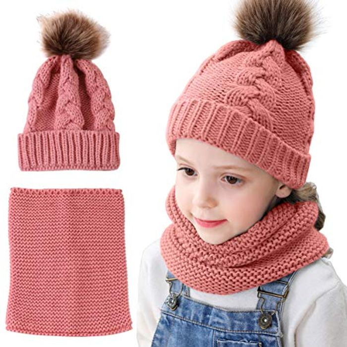 Cheap Kids Beanie Hat and Neck Warmer Only £4.49