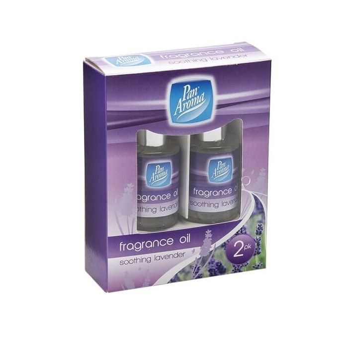 PAN AROMA 2 Pack Fragranced Oils Soothing Lavender