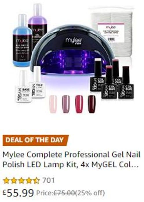 AMAZON DOTD Mylee Complete Professional Gel Nail Polish LED Lamp Kit