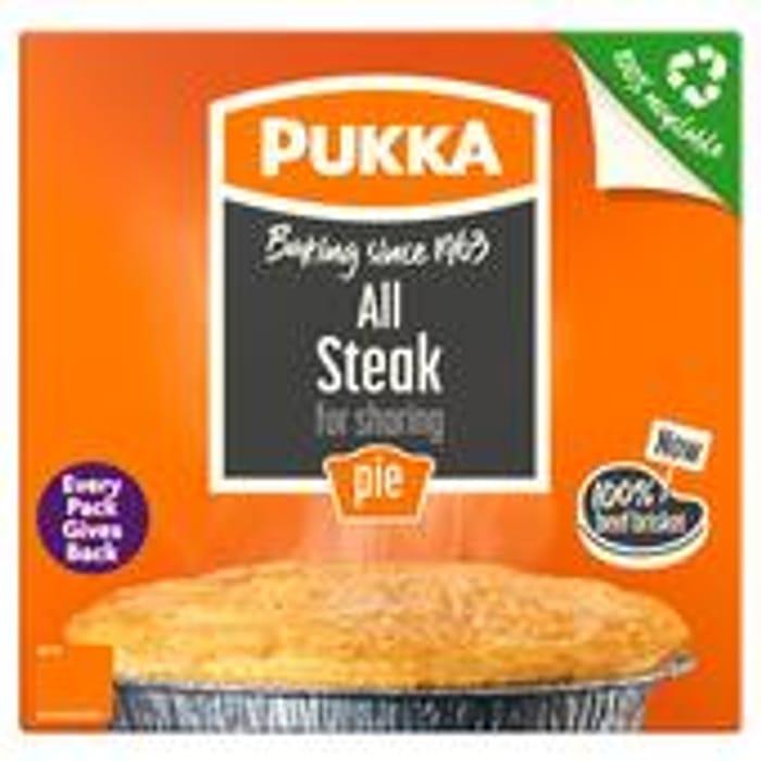Morrisons - Pukka Chicken & Gravy / All Steak Pie 28%off