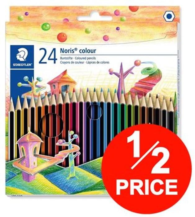 HALF PRICE! 24 Staedtler Noris Colour Colouring Pencils *4.7 STARS*
