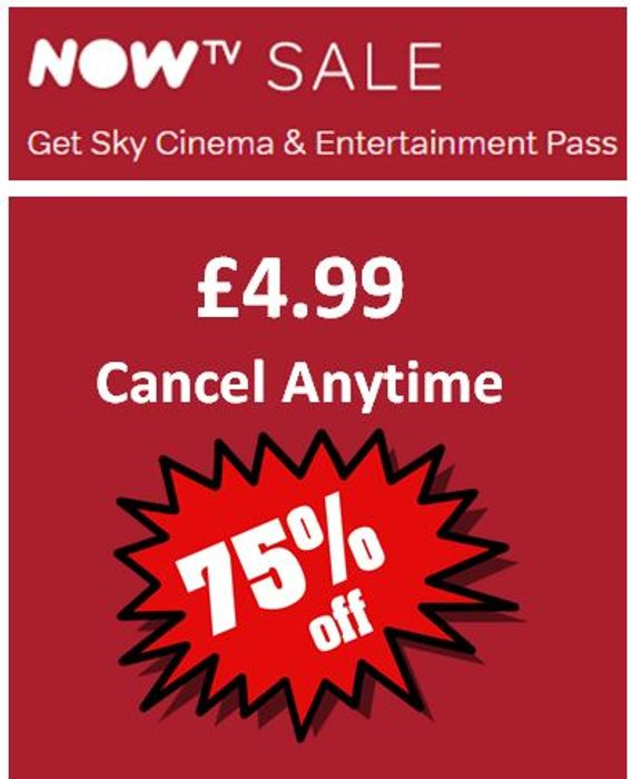 OVER 75% OFF! Sky Cinema & Entertainment Pass BUNDLE DEAL