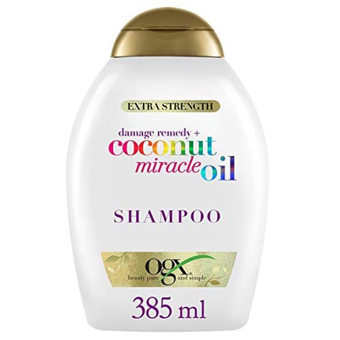 OGX Damage Remedy + Coconut Miracle Oil Shampoo, 385 Ml