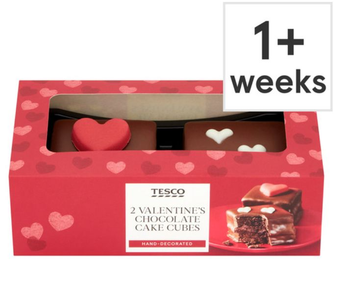 Tesco 2 Heart Chocolate Cubes To Share With Your Valentine!!