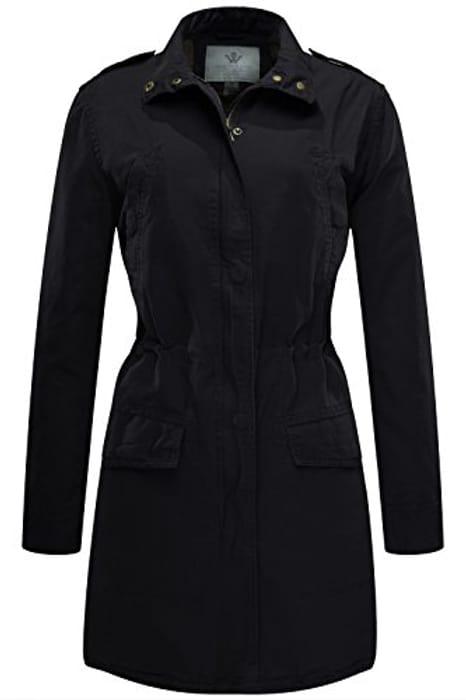 Price Drop! WenVen Women Military Jacket with Drawstring