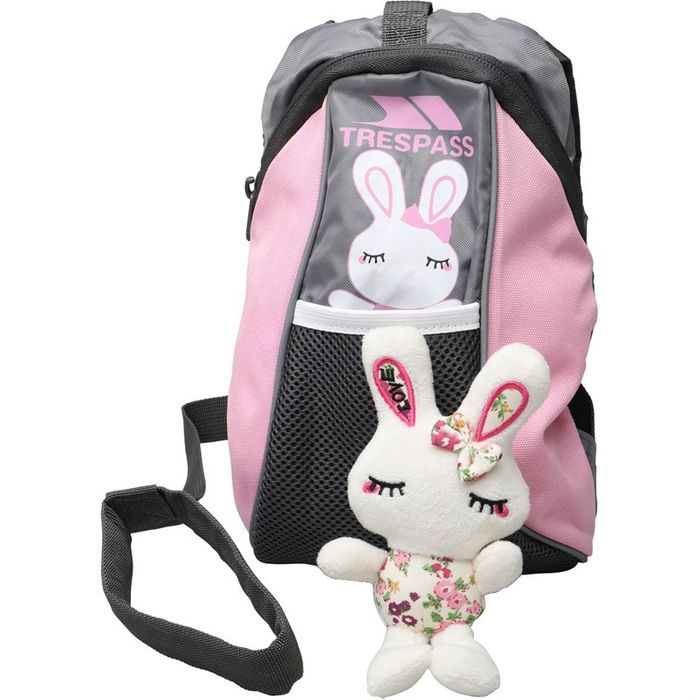 Special Offer - Trespass Kids Cohort Backpack Powder Pink Soft Toy Included.
