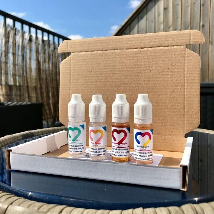 Free Vape E Liquid Trial Box - 4 Vape Liquids.