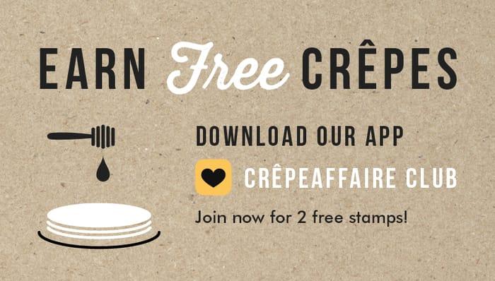 Free Crepe on Your Birthday