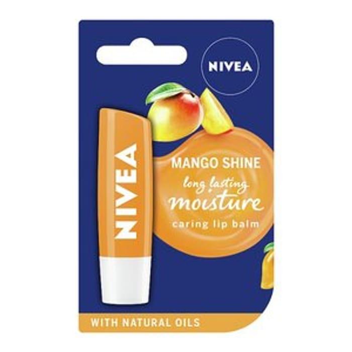 NIVEA Lip Balm, Mango Fruity Shine, 4.8g