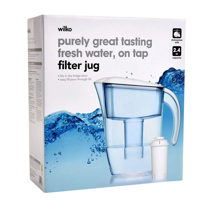 Cheap Wilko 2.4L Filter Jug with 50% Discount - Great buy!