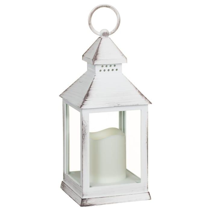 White Small LED Lantern - White