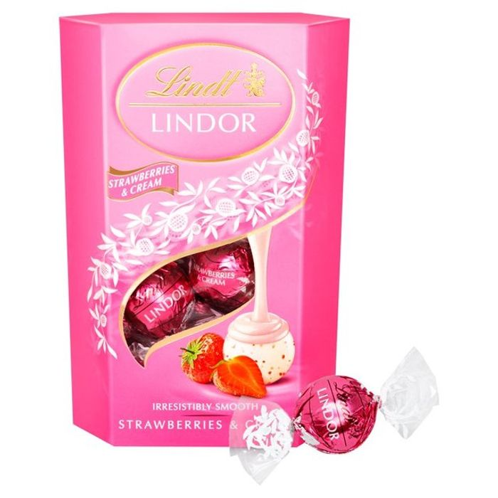 Lindor Cornet Strawberries & Cream 200g