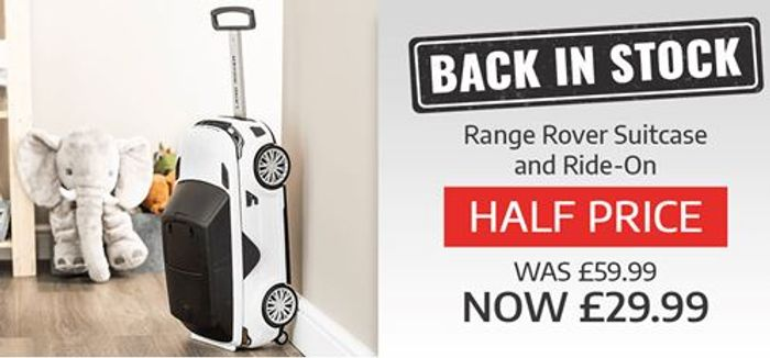 Back in Stock! Half Price Range Rover Ride-On Suitcase. So Cool!