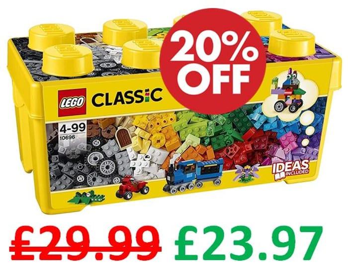 £6 OFF & FREE DELIVERY! LEGO CLASSIC - Medium Creative Brick Box (10696)
