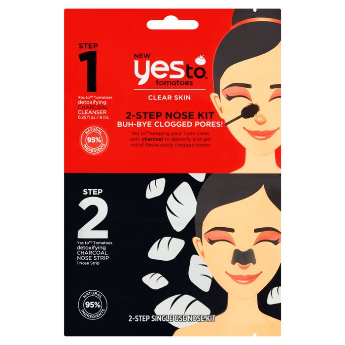 Yes to Tomatoes Charcoal 2 Step Nose Kit 8Ml