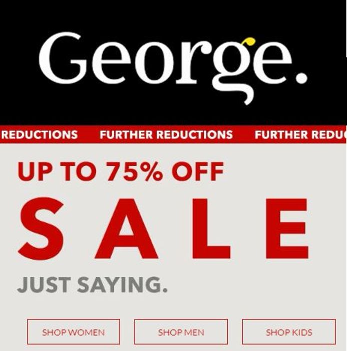 ASDA GEORGE SALE - Further Reductions! Womens / Mens / Kids / Home / Toys
