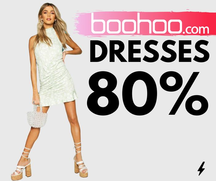 HURRY! boohoo Up To 85% Off Dresses Today Only from Just £3!