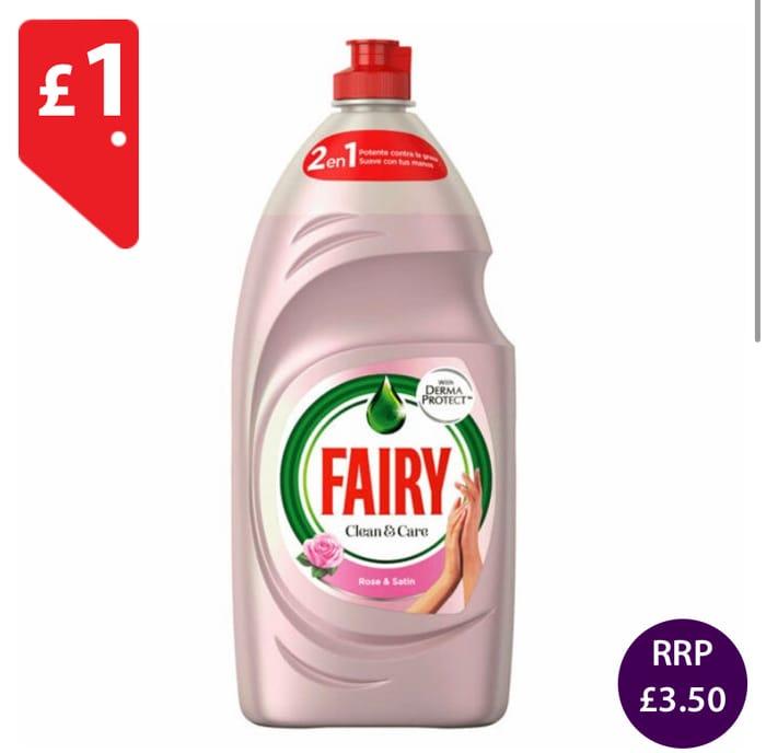 Fairy Washing up Rose & Satin *1050ml