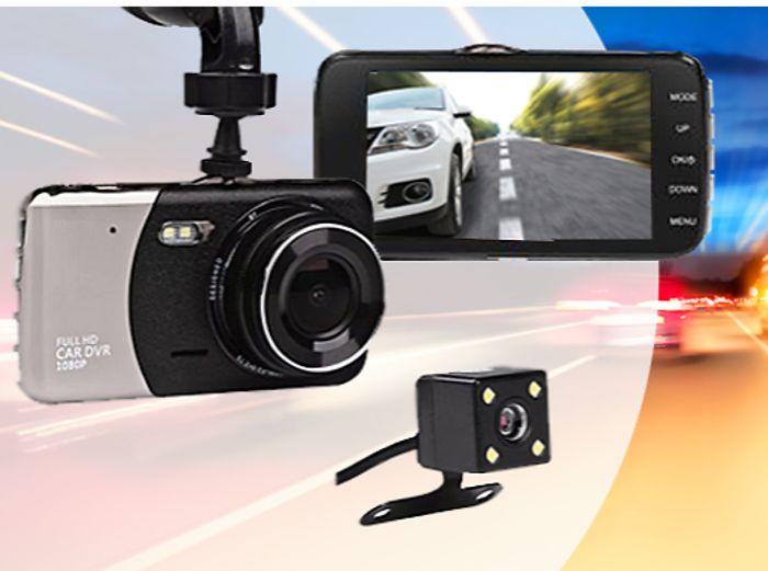 HD Front & Rear Dash Cam + Collision Sensor + EXTRA 10% Off!