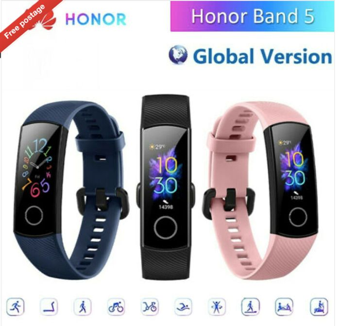 Huawei Honor Band 5 Bluetooth 4.2 Smart Watch Ten Fitness Mode Locate Tracker.