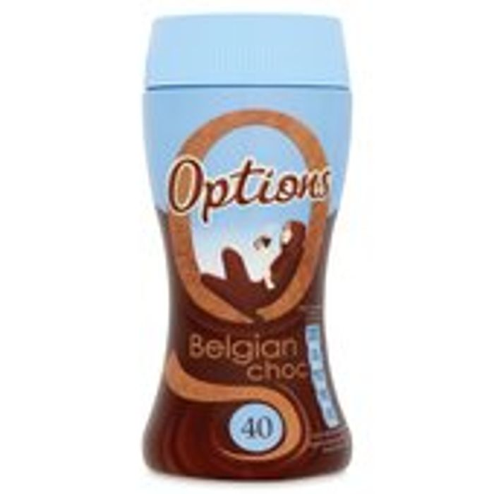 Options Instant Hot Chocolate Drink - Belgian Chocolate